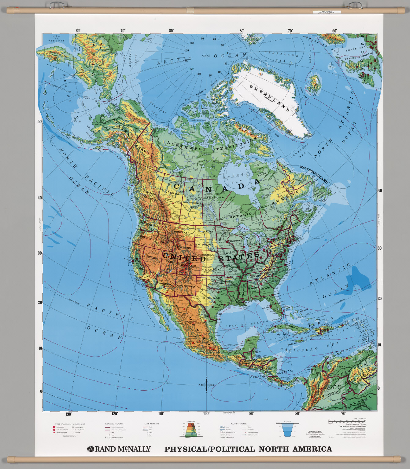 North America PhysicalPolitical David Rumsey Historical Map