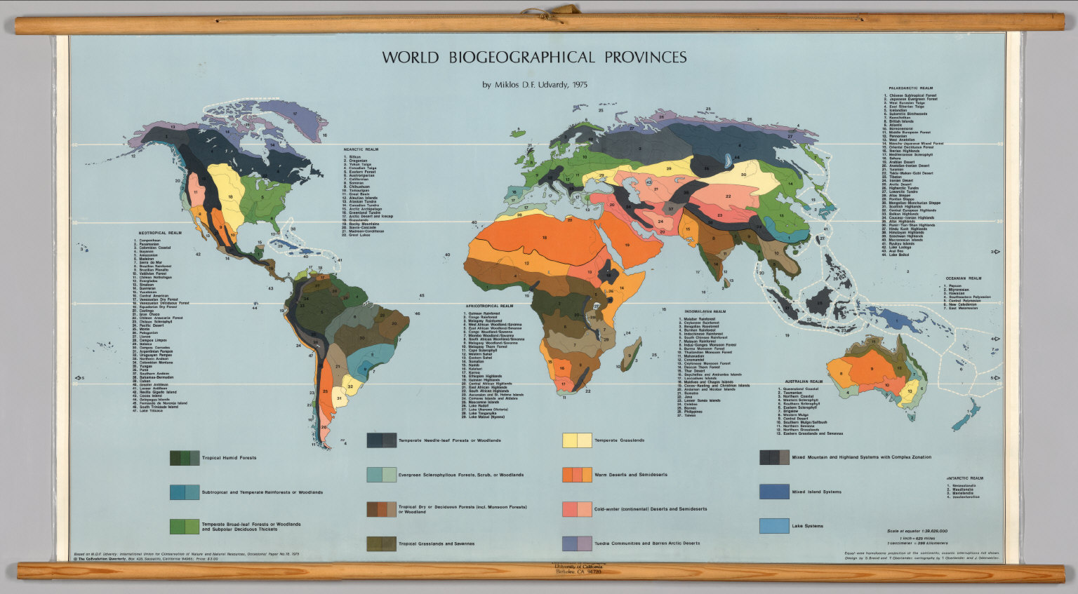 World  Biogeographical Provinces  David Rumsey Historical Map