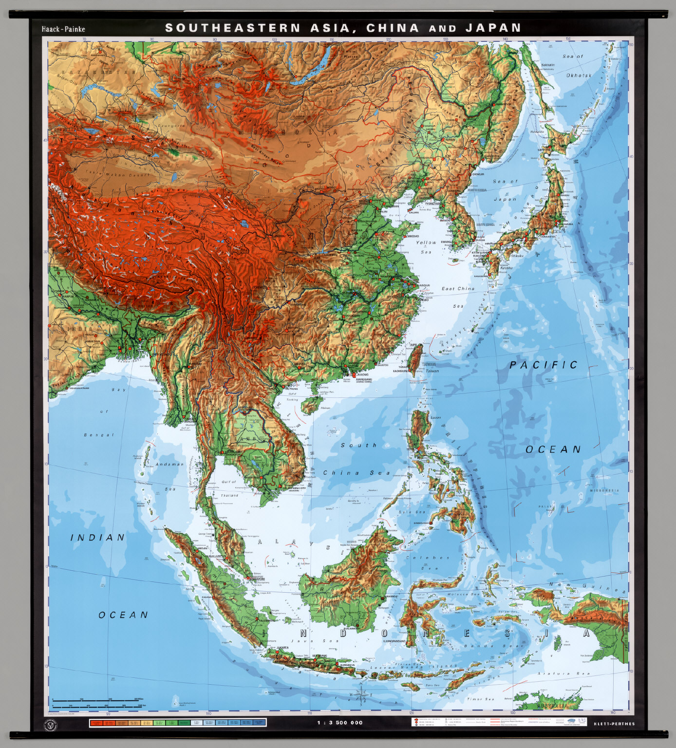 East  Southeast Asia  Physical  David Rumsey Historical Map