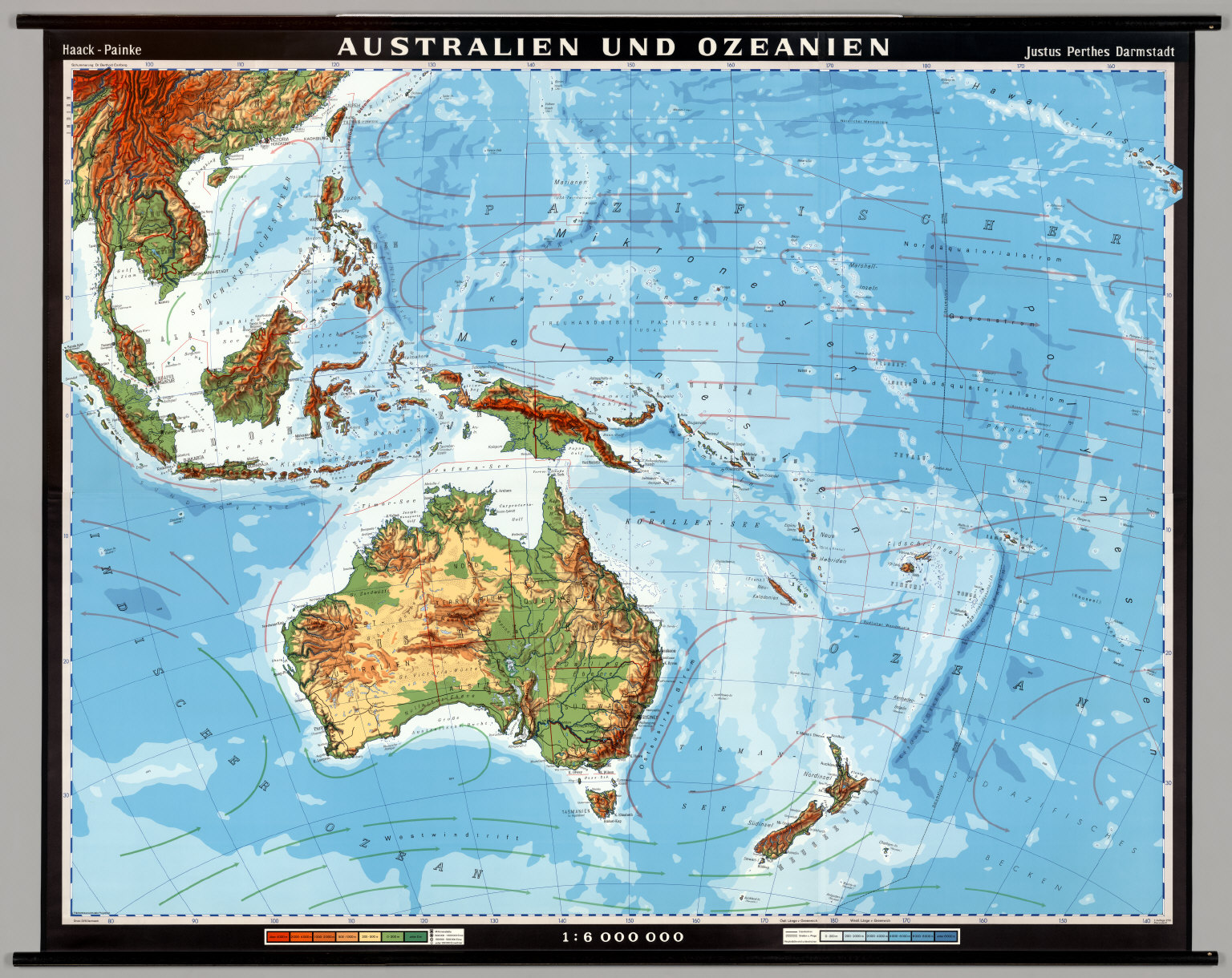 Australia And Oceania Physical David Rumsey Historical Map - Physical map of oceania