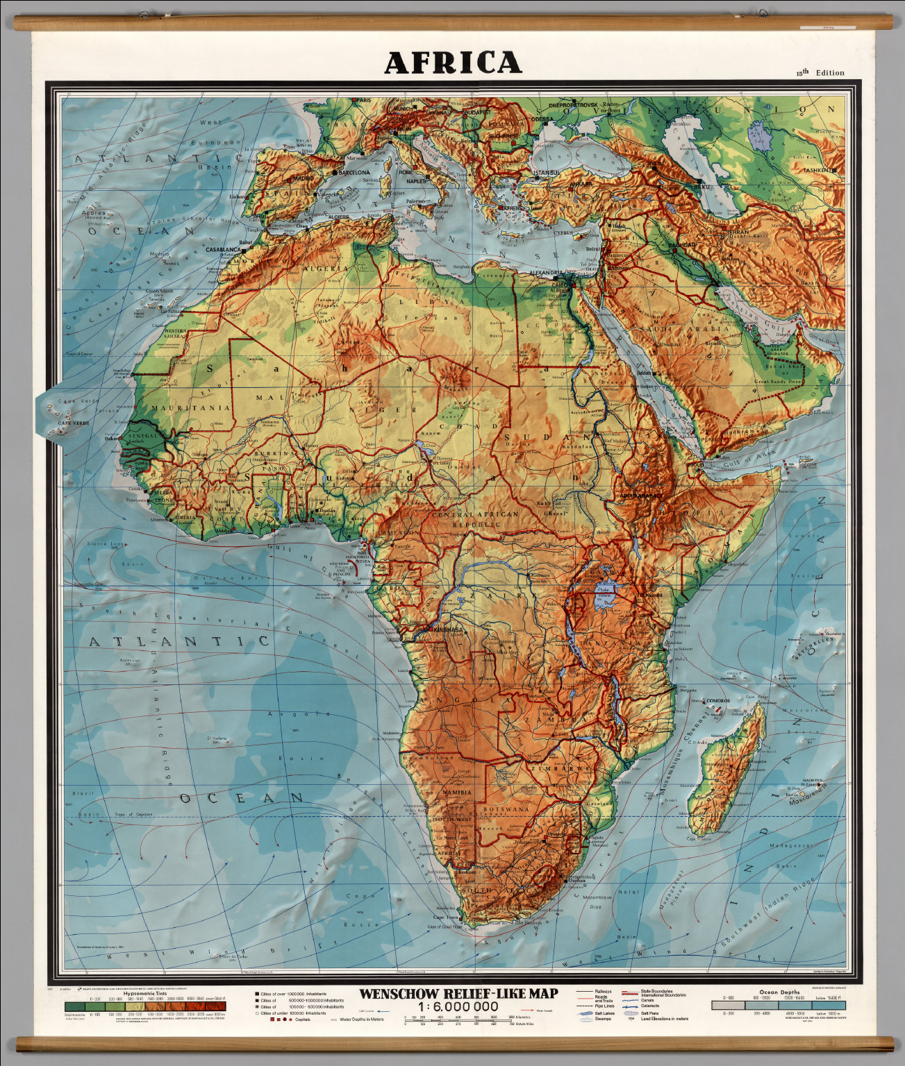 Africa PhysicalPolitical David Rumsey Historical Map Collection