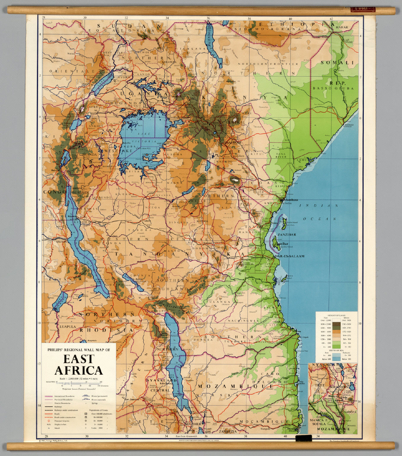East Africa PhysicalPolitical David Rumsey Historical Map