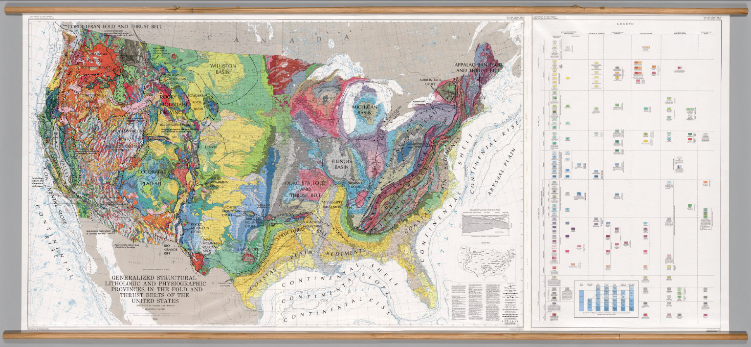 United States Geology Physiographic Structural Provinces - Physiographic map of the united states