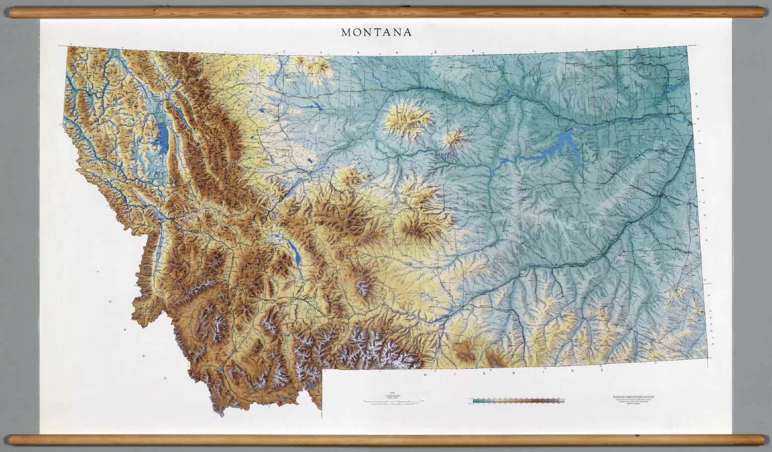Montana Physical David Rumsey Historical Map Collection - Montana blank physical map