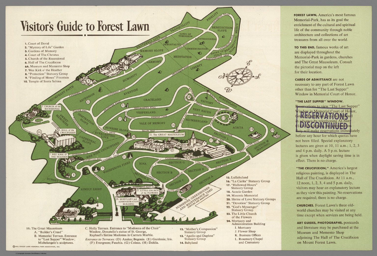pictorial map and visitor s guide to forest lawn memorial park