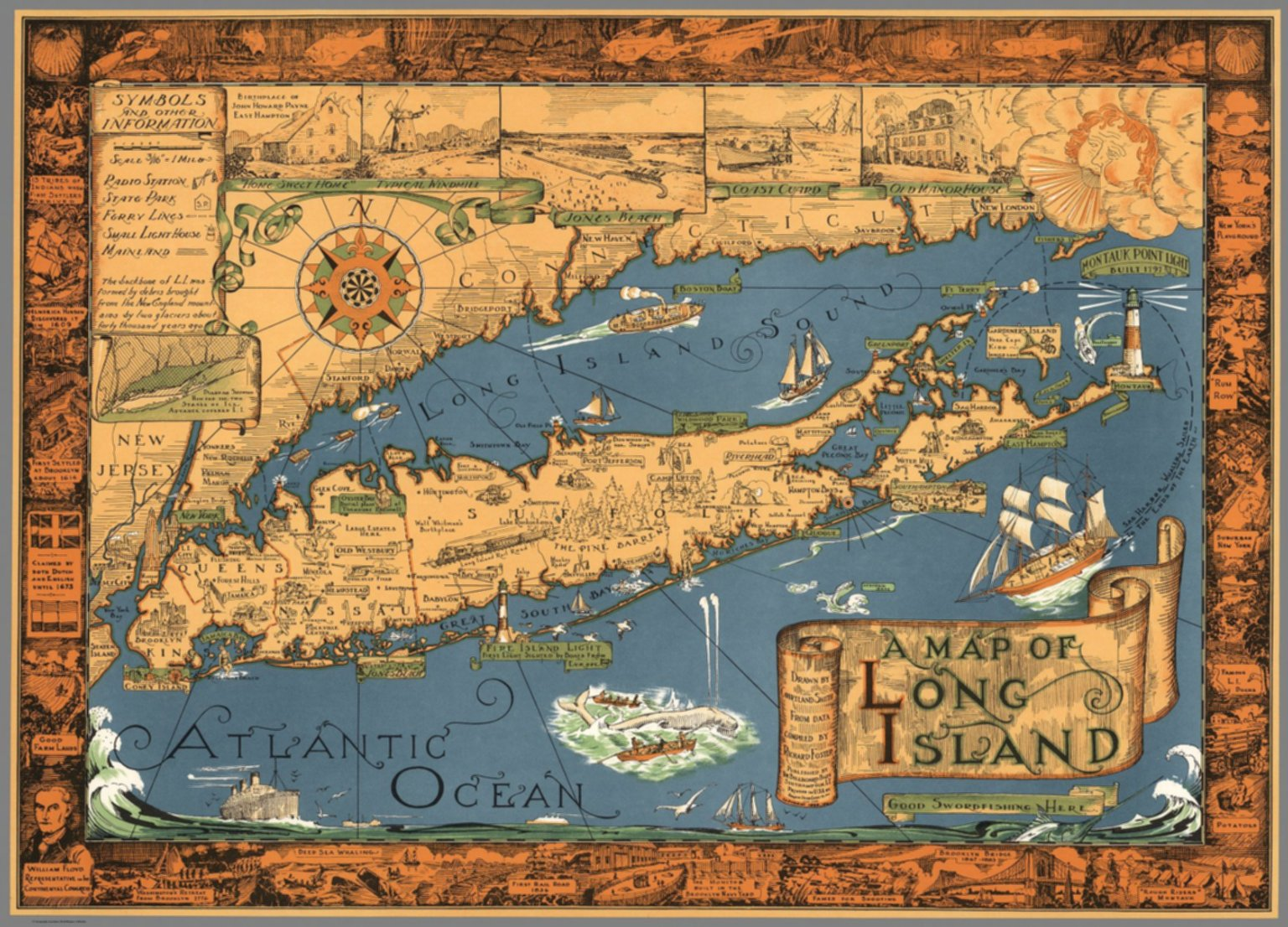 A Map Of Long Island Drawn By Courtland Smith From Data Compiled By Richard Foster