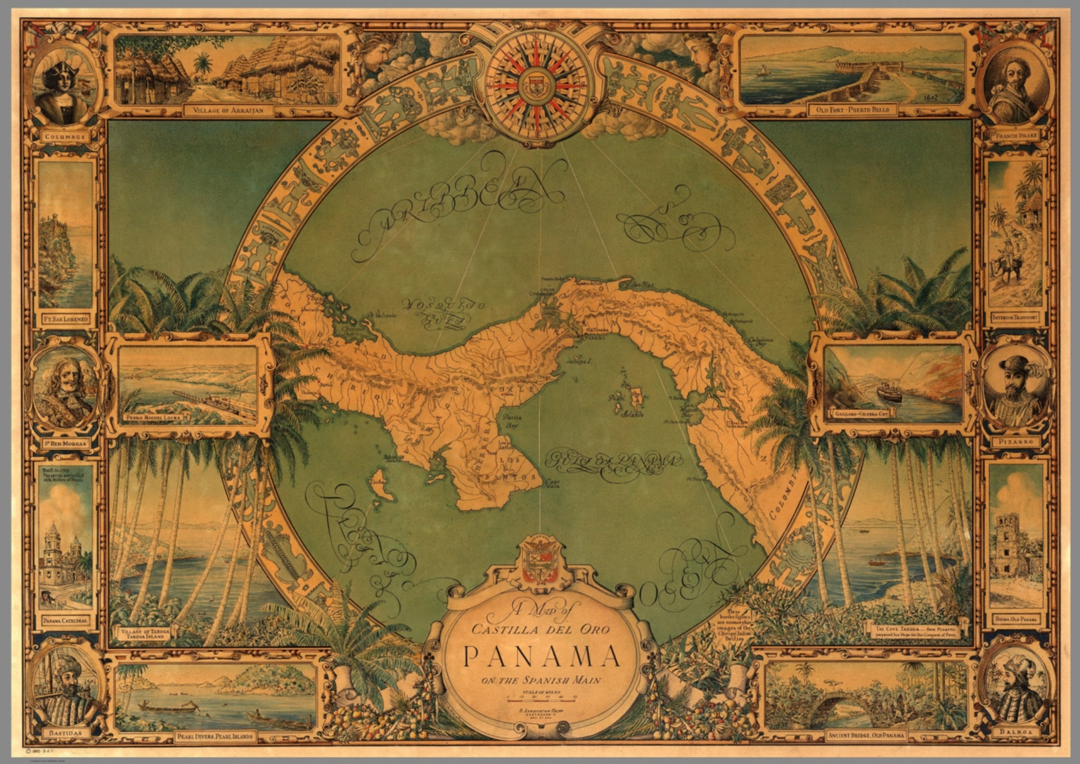 Map of Panama  David Rumsey Historical Map Collection