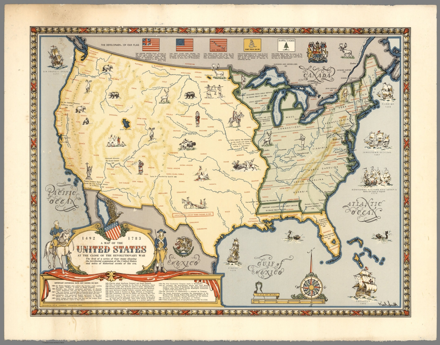 Map Of The United States At The Close Of The Revolutionary War - Map of us in 1783