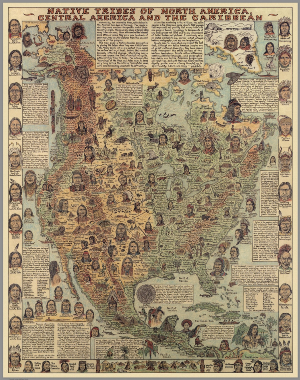 Native Tribes Of North America Central America And The Caribbean