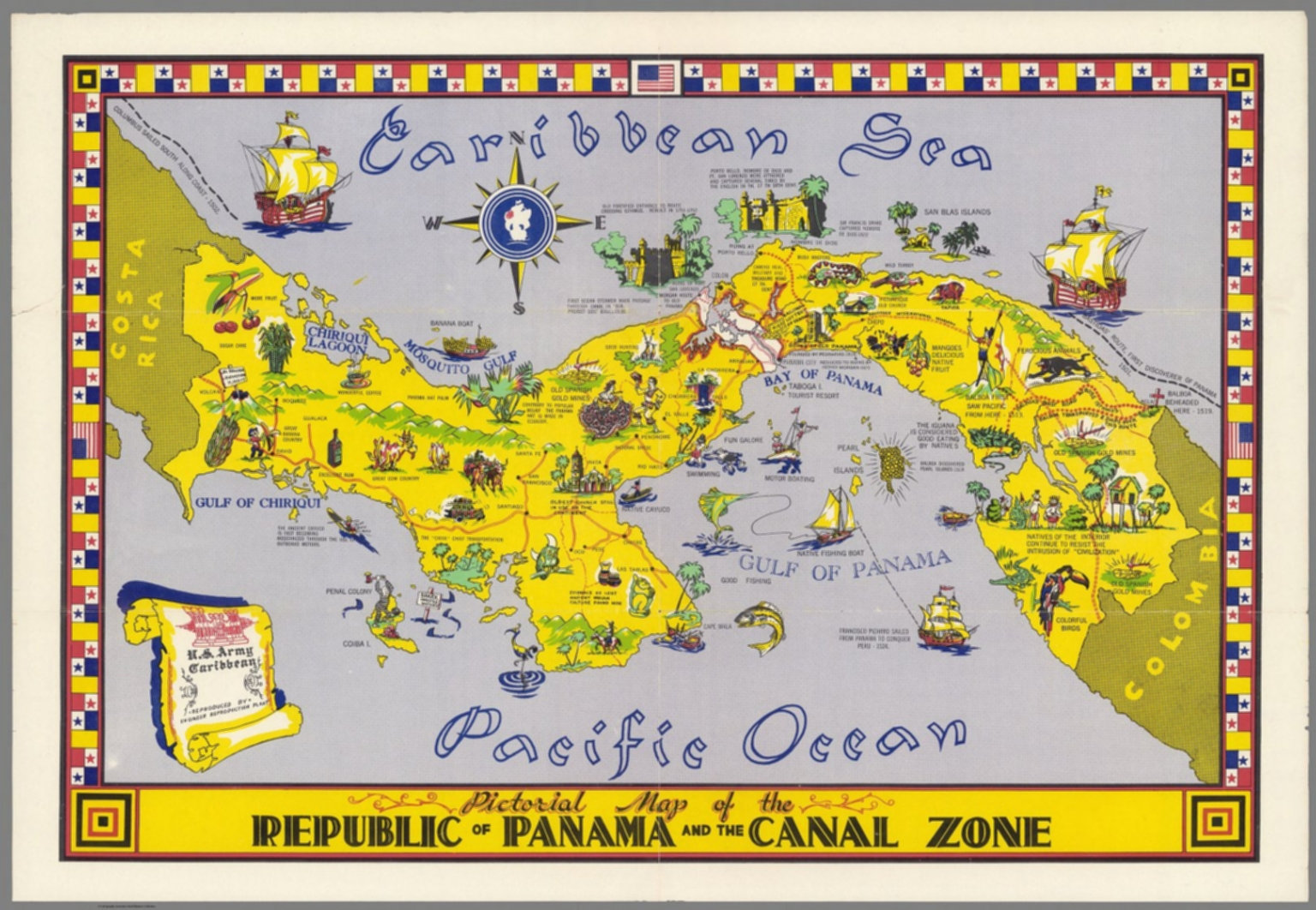 Pictorial map of the Republic of Panama and the Canal Zone  David