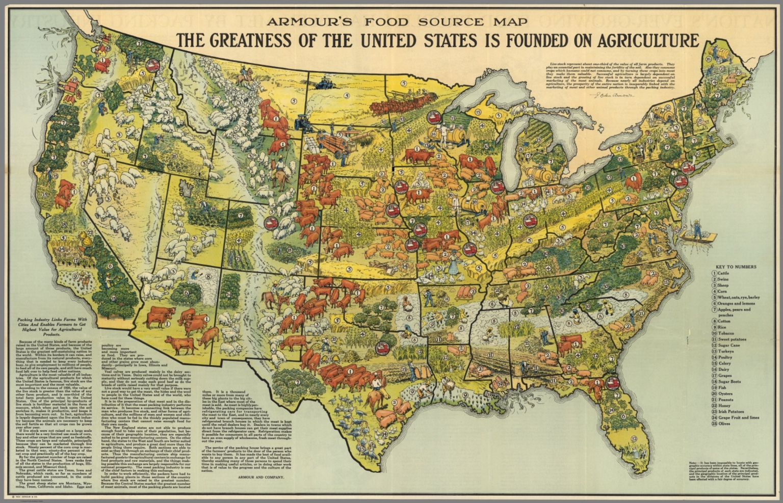 Armours food source map david rumsey historical map collection armours food source map sciox Image collections