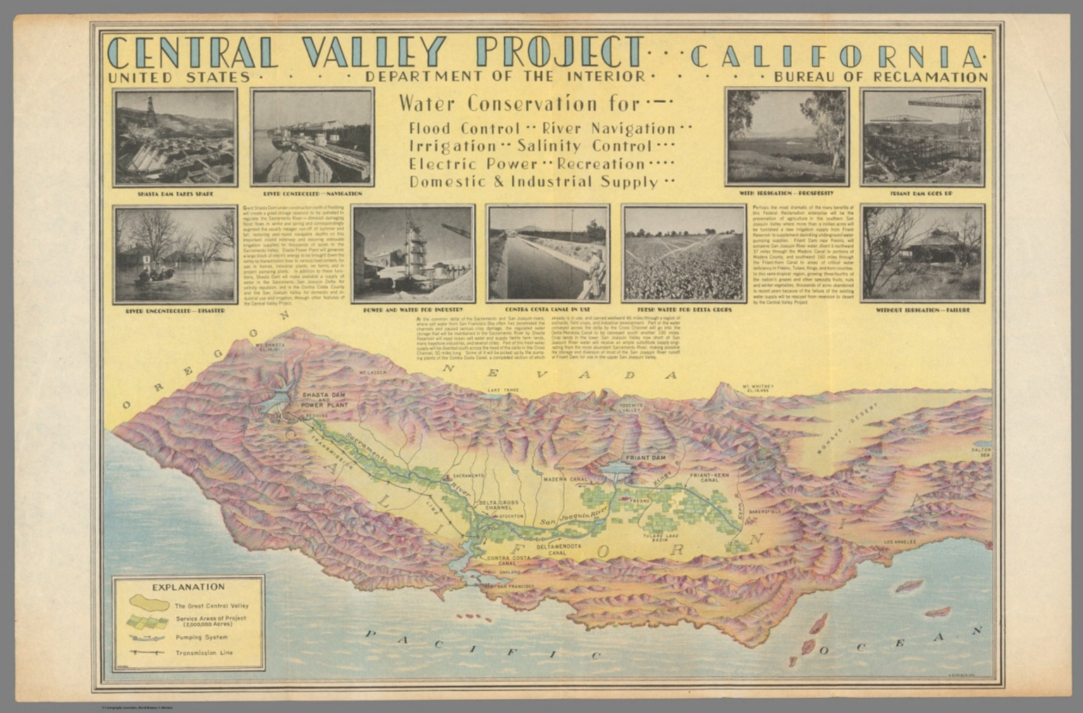 Central Valley Project California David Rumsey Historical Map