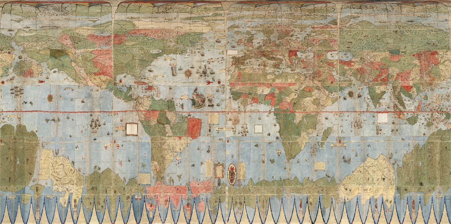 David rumsey historical map collection largest early world map below is montes map georeferenced and re projected as plate caree or geographic in this form it can be placed in google earth gumiabroncs Choice Image